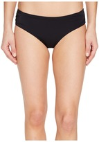 Echo Solid Rouched Bikini Bottom Women's Swimwear