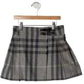 Burberry Girls' Nova Check Wrap Skirt