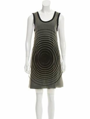 Fendi Mesh Mini Dress Black