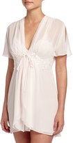 Jonquil Trina Chiffon Short Robe, Pearl Pink