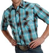Roper Classic Plaid Shirt - Snap Front, Short Sleeve (For Men)