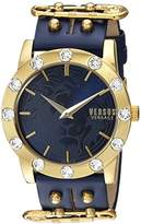 Versus By Versace Women's 'MIAMI CRYSTAL' Quartz Stainless Steel Casual Watch, Color:Blue (Model: S73080016)