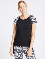 Marks and Spencer Printed Short Sleeve Top