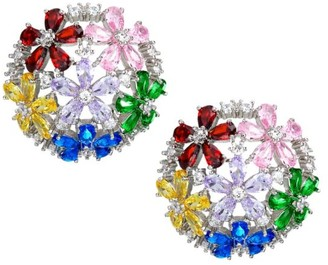 Fallon Florette Rainbow Half Button Stud Earrings