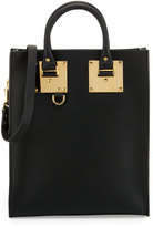 Sophie Hulme Albion Mini Leather Tote Bag, Black