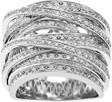 10k White Gold 1 Carat T.W. Diamond Highway Ring