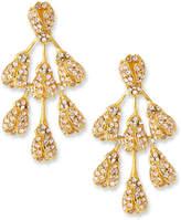 Oscar de la Renta Crystal Vine Drop Earrings