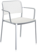 Kartell Audrey Shiny Armchair - Aluminium/White