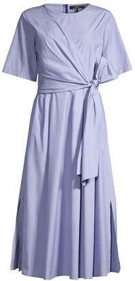 Max Mara Dedalo Tie-Front Wrap Dress