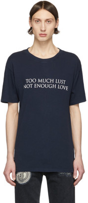 Nahmias SSENSE Exclusive Navy Too Much Lust T-Shirt