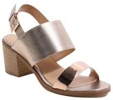 George Metallic Heeled Sandals