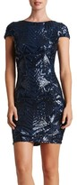Dress the Population Women's Tabitha Sequin Mesh Minidress