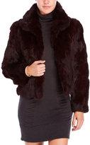 Adrienne Landau Real Rabbit Fur Jacket