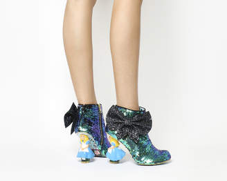 Irregular Choice Who In The World Am I? Heel Blue Sequin