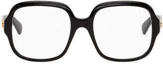 Gucci Black Oversized Square Glasses