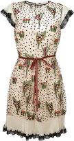 RED Valentino floral print dress - women - Polyamide/Polyester - 40