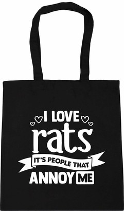 Hippowarehouse I Love Rats Its People That Annoy Me Tote Shopping Gym Beach Bag 42cm x38cm 10 litres