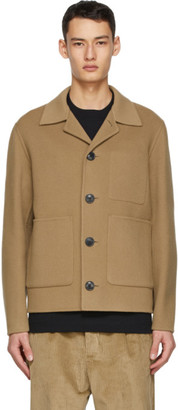 Ami Alexandre Mattiussi Tan Wool and Cashmere Unstructured Jacket