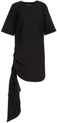 Oscar de la Renta Draped Ruched Wool-blend Mini Dress