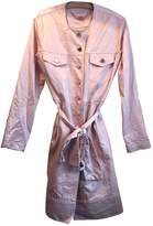 Mulberry Pink Cotton Coat for Women