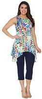 Women with Control Regular Printed Tunic /CapriPants Set