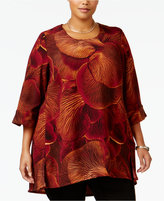 Melissa McCarthy Trendy Plus Size Floral-Print Top