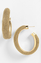 Nordstrom Adami & Martucci 'Mesh' Oval Hoop Earrings Exclusive) Gold