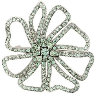 Oscar de la Renta Crystal-Embellished Floral Brooch