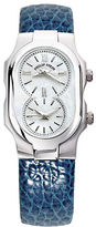 Philip Stein Teslar Ladies Silvertone and Leather Watch