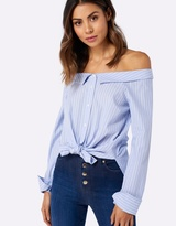 Forever New Kirsty Falling Shoulder Tie Shirt