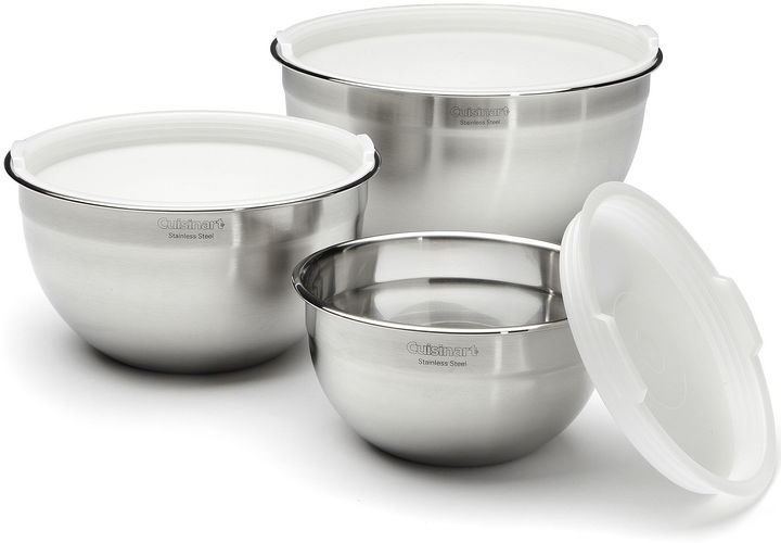 Cuisinart 3-pc. Stainless Steel Mixing Bowls with Lids Set
