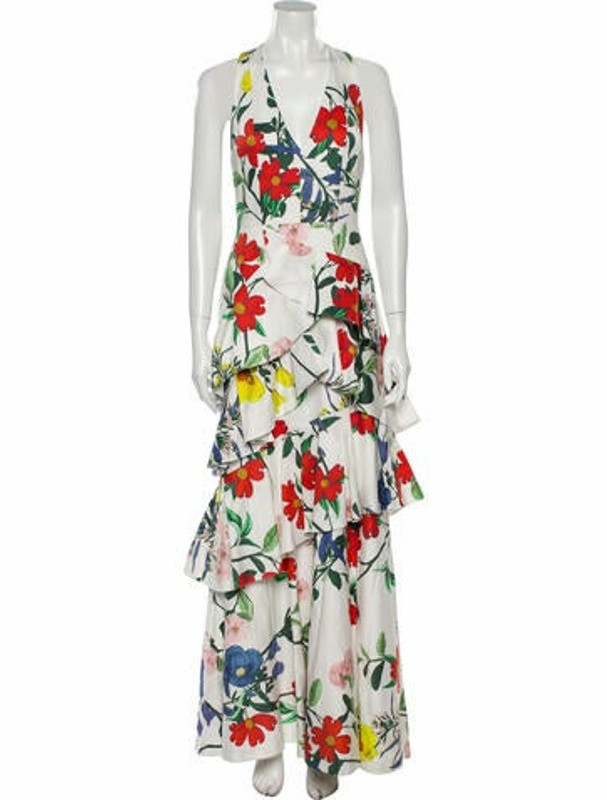 Alice + Olivia Floral Print Long Dress