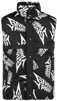 Givenchy All Over Logo Padded Gilet