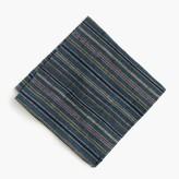 J.Crew KirikoTM pocket square in teal stripe