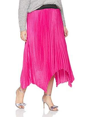 Simply Be Women's Hanky Hem Pleated Maxi Skirt Skirt,(Manufacturer Size:)