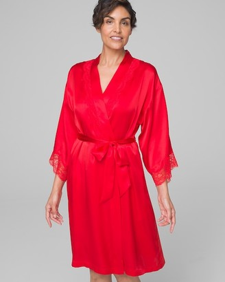 Soma Intimates Short Robe with Lace