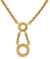 Bvlgari 18K Drop Pendant Necklace