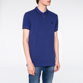 Paul Smith Men's Slim-Fit Indigo PS Logo Organic-Cotton Polo Shirt