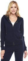 Juicy Couture Cashmere Sweater Hoodie W/ Scarf Print