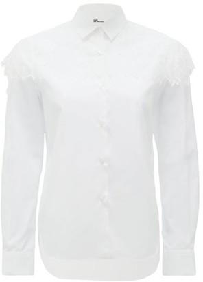 Noir Kei Ninomiya Chantilly-lace Trimmed Cotton Blouse - White