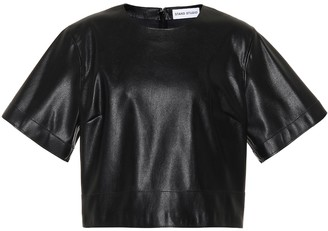 Stand Studio Sherlyn faux-leather crop top