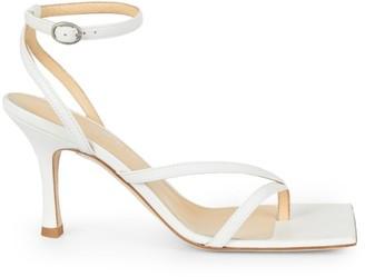 A.W.A.K.E. Mode Delta Asymmetric Square-Toe Leather Sandals