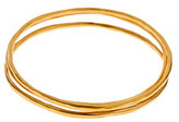 Hammered Gold Bangle Set