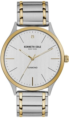 Kenneth Cole New York Men's Two-Tone Diamond Accent Watch