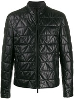 Emporio Armani quilted zip jacket
