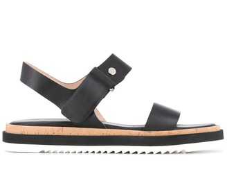 AGL Contrast Panel Strappy Sandals