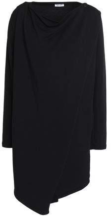 Splendid Draped Stretch-Modal Fleece Wrap Top