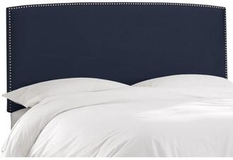 Skyline Furniture Mara Upholstered Panel Headboard Size: Twin, Upholstery: Regal Navy