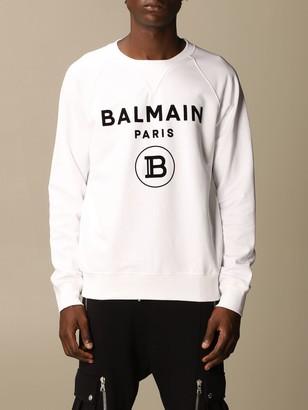 Balmain Sweatshirt Cotton Sweatshirt With Flock Logo