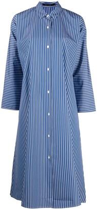 Sofie D'hoore Pinstripe Flared Shirt Dress
